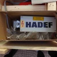 Hadef14/12正齿轮葫芦带有滚珠轴承的手推车车轮